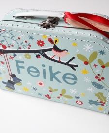 koffertje met naam, kinderkoffertje, kinderkoffertjes, naamkadi, cadeau met naam, koffertje bedrukken